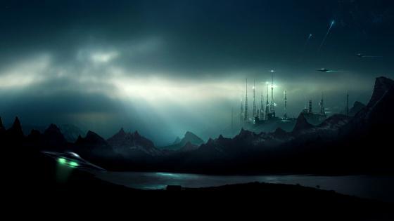 Science Fiction landscape wallpaper