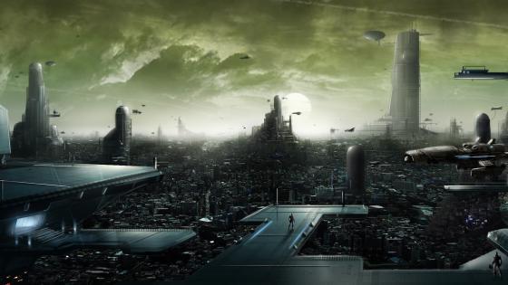 Sci-fi city wallpaper