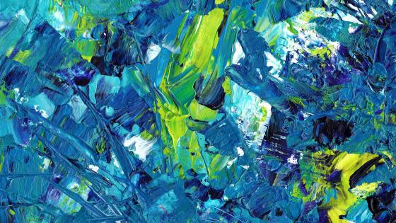 Abstract painting with palette knife wallpaper