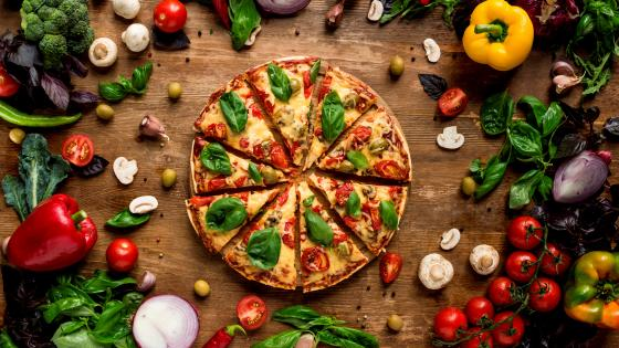 Veggie  pizza wallpaper