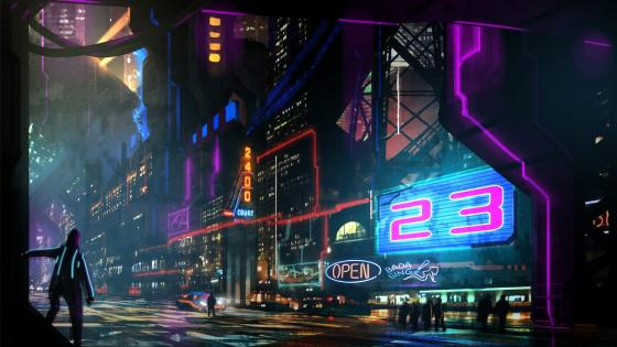 Cyber city wallpaper
