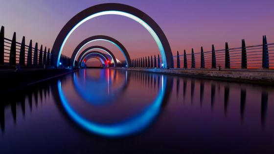 The Falkirk Wheel boat lift wallpaper