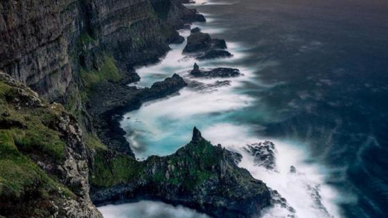 Rugged coastline wallpaper