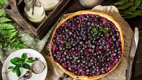 Blueberry pie wallpaper