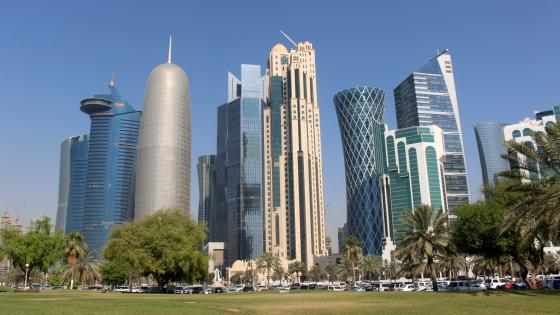Skyscrapers in Doha wallpaper