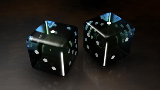 Black dice wallpaper