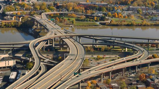 Interchange of I-787, U.S. Route 9 & Highway 20 in Albany, NY wallpaper