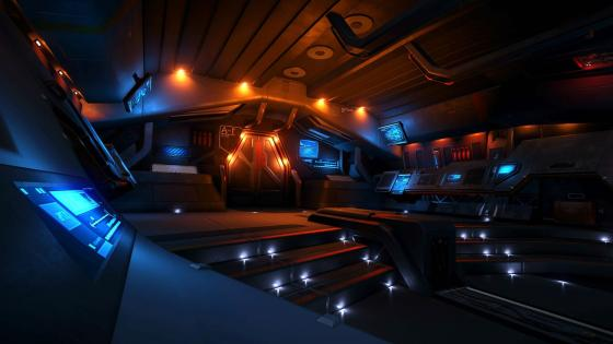 Spaceship interior wallpaper
