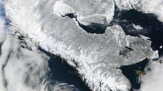 Scandinavian Peninsula in Winter wallpaper