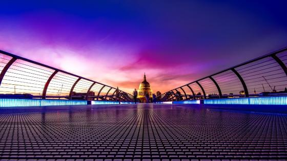 Millennium Bridge (London) wallpaper