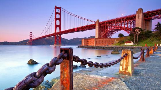 Red Golden Gate Bridge wallpaper