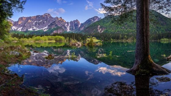 Fusine Lakes wallpaper
