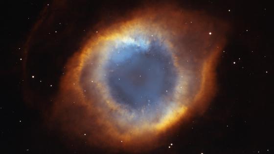 Iridescent Glory of Nearby Helix Nebula wallpaper