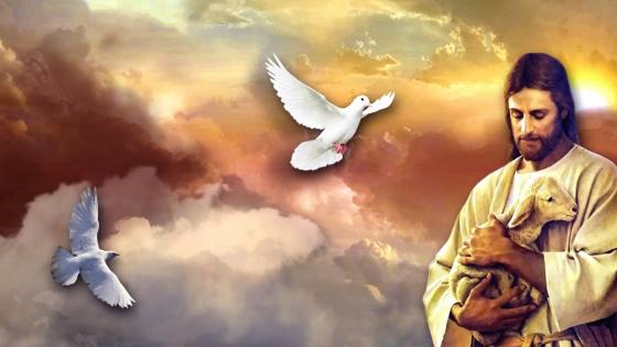 Jesus And The Lost Sheep wallpaper