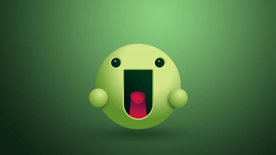 Green Smiley wallpaper