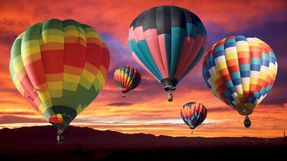 Colorful Air balloons wallpaper