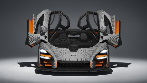 LEGO replica McLaren Senna wallpaper