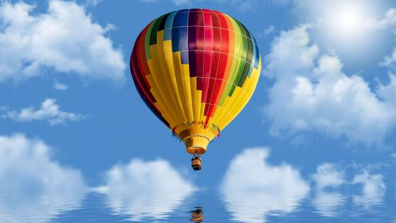 Colorful ballon wallpaper