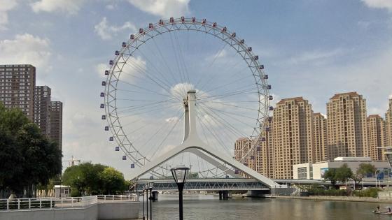 Tianjin Eye Ferris wheel wallpaper