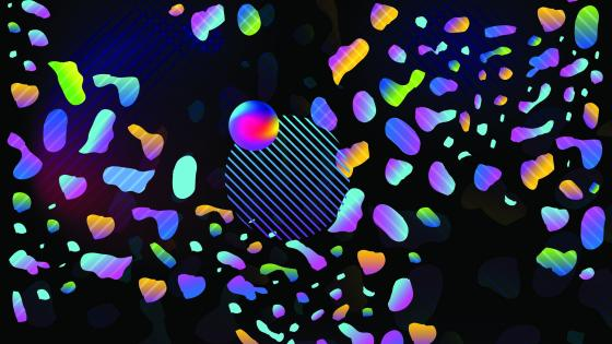 Neon abstraction wallpaper