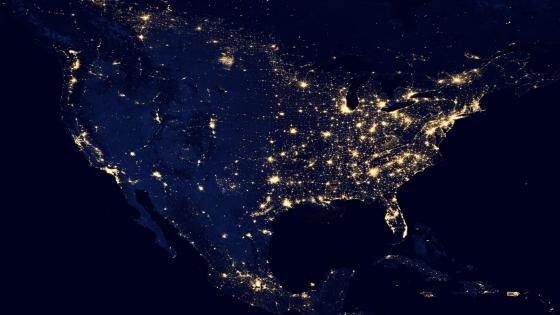 Night Lights of North America v2012 wallpaper