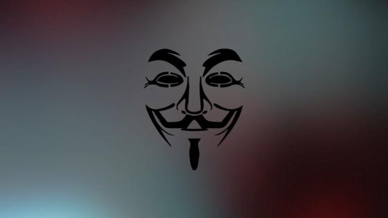 Guy Fawkes mask silhouette wallpaper