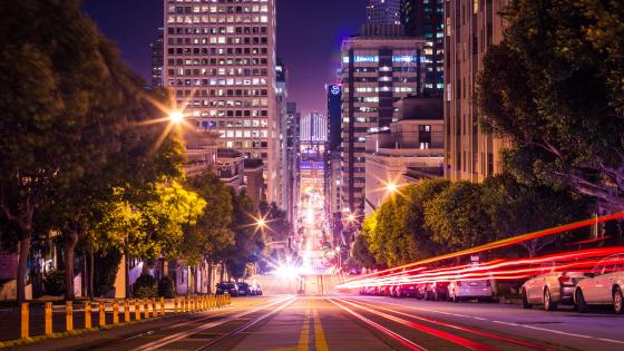 San Francisco at night wallpaper