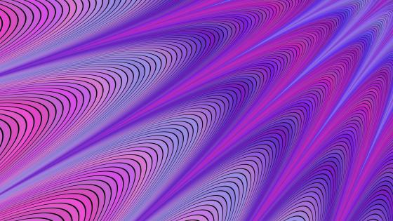Purple wavy fractal art wallpaper