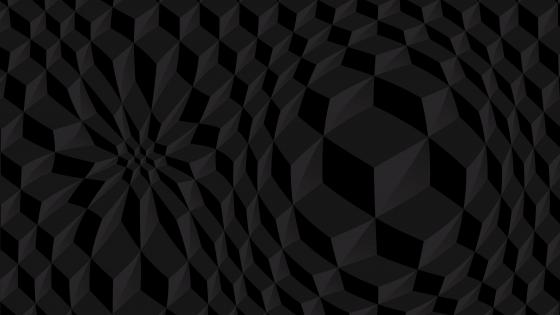 3D Black pattern wallpaper