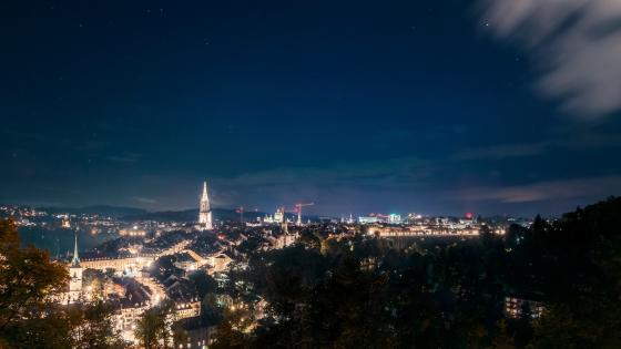 Bern at night wallpaper
