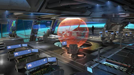 Sci-fi Starship interior wallpaper