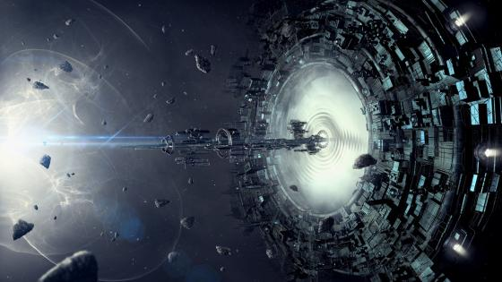 Wormhole in space wallpaper