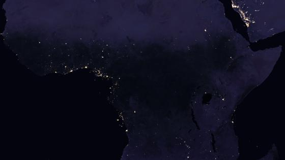 Night Lights of Africa 2016 wallpaper