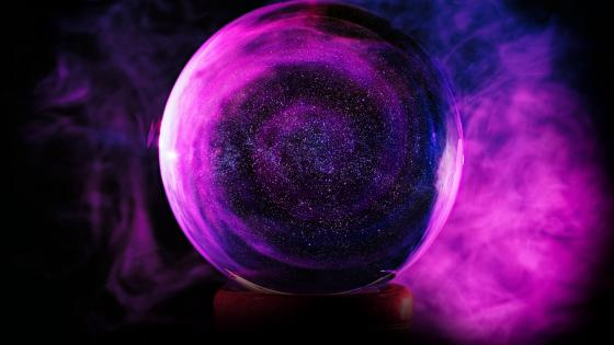Purple glass sphere wallpaper