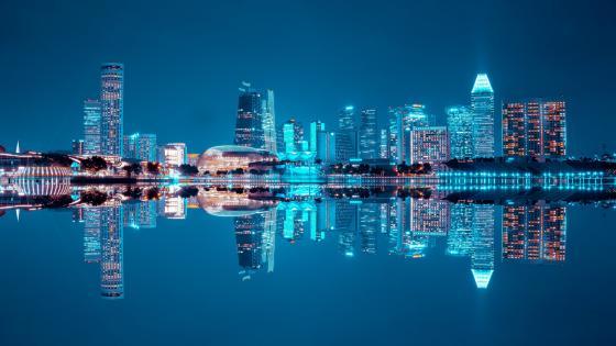 Blue reflection wallpaper