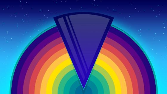 Night rainbow wallpaper