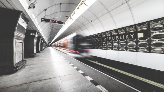 Metro station in Prague wallpaper
