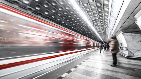Prague metro station wallpaper