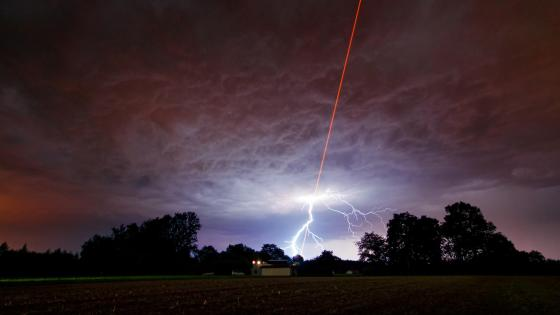 Laser Meets Lightning wallpaper