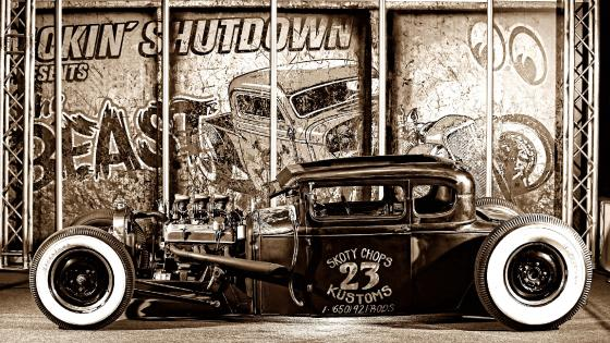 Vintage Hot Rod Car wallpaper