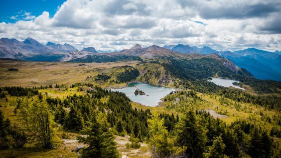 Mountain lakes wallpaper
