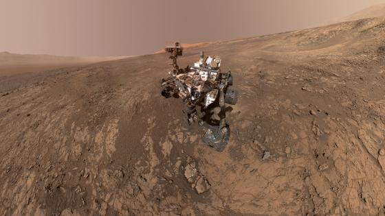 Mount Sharp Photobombs Curiosity wallpaper