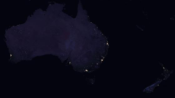 Night Lights of Australia & New Zealand 2016 wallpaper
