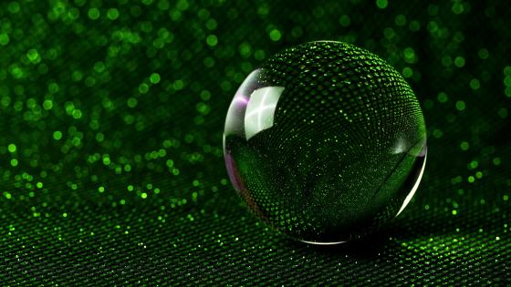 3D green crystal ball wallpaper