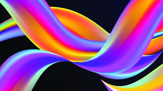 Neon colored wavy abstraction wallpaper