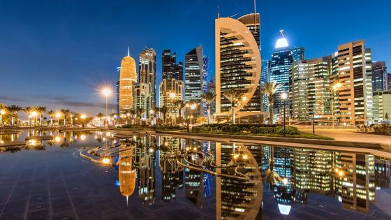 Doha nigh city lights wallpaper