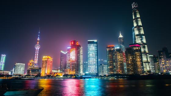 Lujiazui Skyline Lights wallpaper