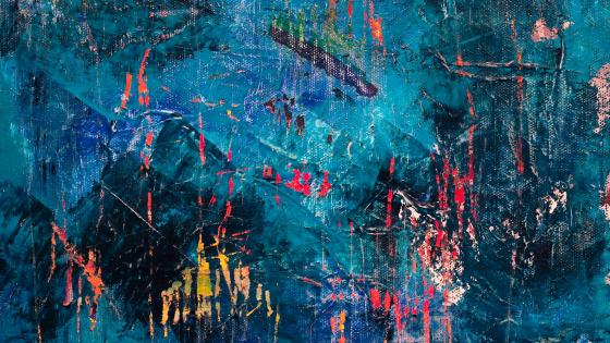 Turquoise abstract painting wallpaper