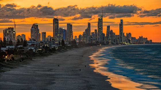 Gold Coast and Surfers Paradise beach (Queensland) wallpaper