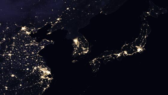 Night Lights of China, Korea & Japan 2016 wallpaper